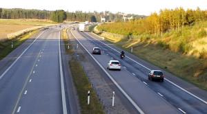 E4 mot Norrköping nordöst om Linköping